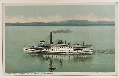 POSTCARD NY LAKE Champlain Whitehall Putts Rock Vintage New York PC
