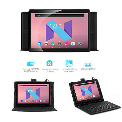 "XGODY 10.1"" Tablet PC Android 7.0 Octa Core 4G 2+32GB Dual Targeta With Keyboard"