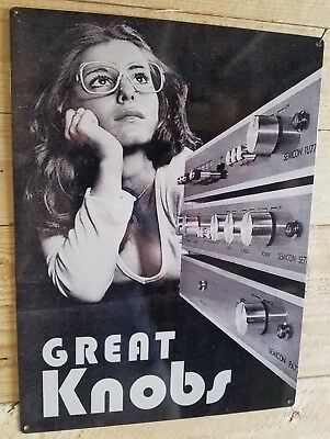Vintage Semicon stereo great knobs poster reproduced as decorative steel sign