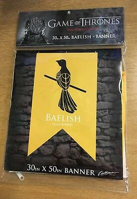 """Game Of Thrones House Baelish Banner / Flag. Licensed 30"""" x 50"""". New"""