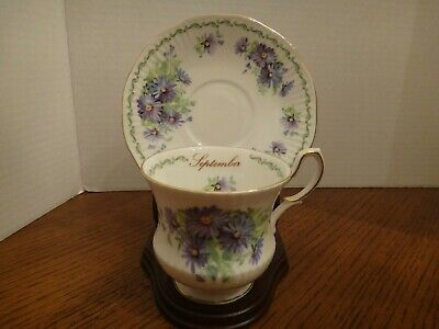 Vintage Fine Bone China Cup and Saucer Queen's Special Flowers September England