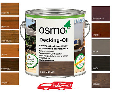 Osmo Exterior Wood Decking Oil 11 Shades Available 5ml, 125ml, 750ml and 2.5L
