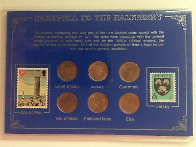 Farewell To The Halfpenny Old 1/2P Coin Set - £17.99 - Free P&P