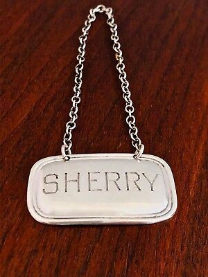 - Currier & Roby Sterling Silver Bottle Tag Sherry