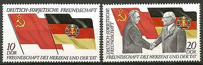 Germany (East) DDR GDR 1972 MNH 25 Yrs Geman-Soviet Friendship Brezhnev Honecker