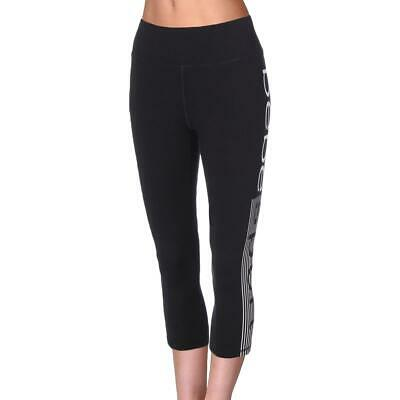 1d8328cf9dec8 BEBE SPORT WOMENS Black Yoga Fitness Running Capri Pants Athletic XS ...