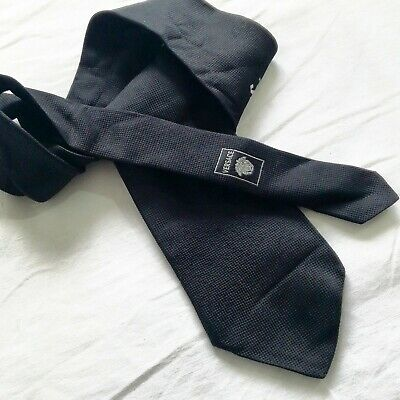 3c5d65f592e6 GIANNI VERSACE TIE Black 100% Silk Made In Italy Good Condition ...