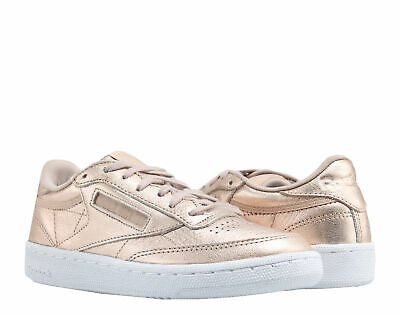 251595dde9fea Reebok Classic Club C 85 Melted Metal Bronze White Women s Shoes BS78979  Size 5