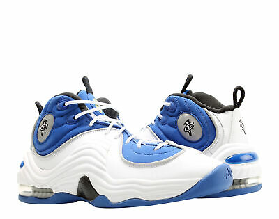 1d9afc2b7448 NIKE KIDS AIR Penny II Basketball Shoes White Blue Black Leather 4.5 ...