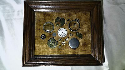 Pocket Watch Framed Art: Scotty Westclox: Steampunk & Unique – Check Out Pics !!