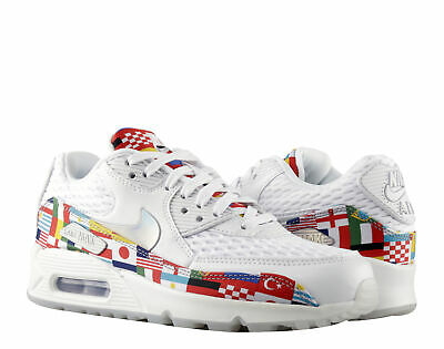 look for dcdce 31521 Nike Air Max 90 NIC QS International Flag Men's Running Shoes AO5119-100  Size 4