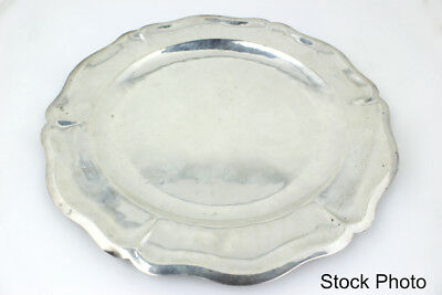 Maciel Sterling Silver Dinner Plate w/ Scalloped Edges