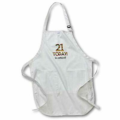 """21 Today. in Celsius - Funny 70th Birthday Full Length Apron, 22""""x30"""""""