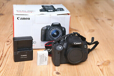 Boxed Canon EOS 700D 18MP DSLR Camera (Body Only) in VGC 9k Shutter