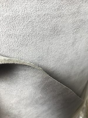 "Genuine Light Grey Alcantara Foam Backed 3mm  - (60"",1.5 M Wide) SAMPLE"