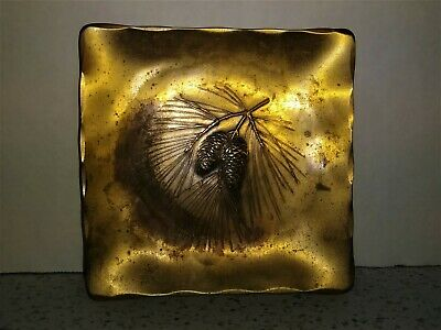 WENDELL AUGUST FORGE Solid Bronze Pine Cone Trinket Coin Tray Immanuel Shrine 19