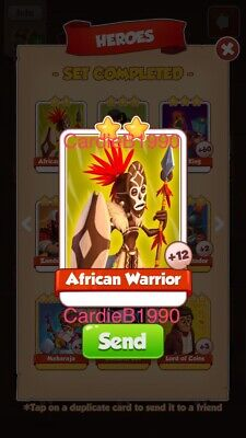X1 African Warrior Coin Master trading card !!!Super Fast Delivery!!!