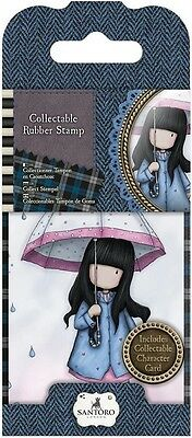 Gorjuss Mini Collectible Rubber Stamp #16 Puddles of Love