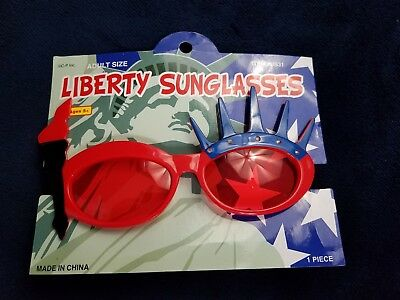 cbeb889a8bb Liberty Sunglasses Red White   Blue 4th Of July Adult Size Fun Dress Up  Costume