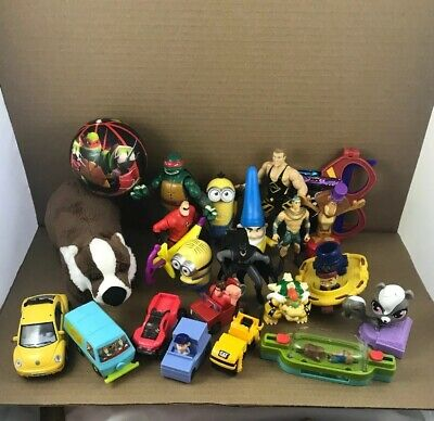 Junk Drawer Lot Boy Toys  Lot Cars Action Figures Cards & More