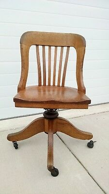Vintage B.L. Marble Chair Co. BANKERS SWIVEL CHAIR