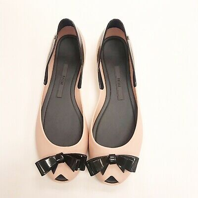 039f072180 MELISSA JELLY BOW Shoes Pink Ballet Flats Womens Size US 8 - $39.99 ...