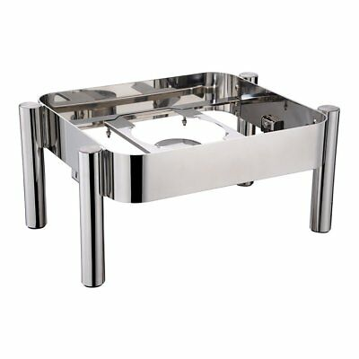 Chafer Frame, Straight Leg - Stainless Steel - Fits Induction Ready 6 Quart Rect