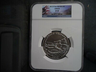 2012 p 5 ounce silver Chaco Culture quarter NGC SP 69