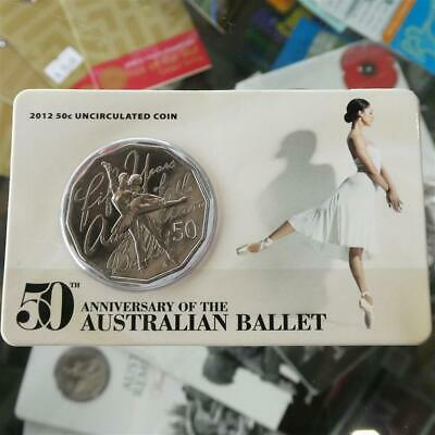 2012 Australia 50th Anniversary of Australia Ballet Uncirculated 50c Coin in ...