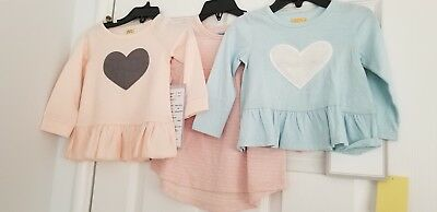 Harper Canyon Girls Dress and Tops Lot of 3 NWT Baby Girl Size 12 Months
