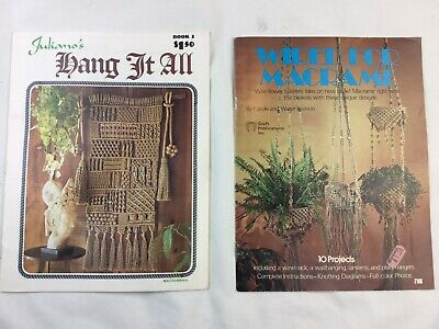 Juliano's Hang It All Book 2 Macrame Vintage Pattern Instruction Books 1975 1977
