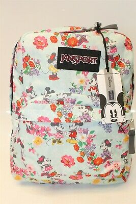 324cd652c86 JanSport x Disney NEW Superbreak Blooming Minnie Limited Edition Floral  Backpack