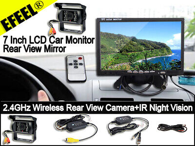 """Rear View Wireless IR Back up RV Truck Camera Night Vision System+ 7"""" Monitor US"""