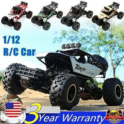 RC Car 1/12 4WD Remote Control High Speed Vehicle 2.4Ghz Electric Buggy Off-Road