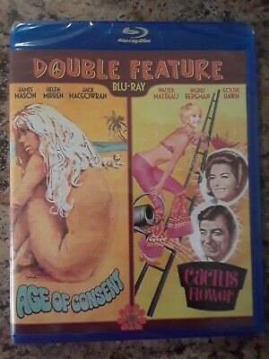 Uncut Age of Consent (Helen Mirren), Cactus Flower (Goldie Hawn) Blu-ray Double