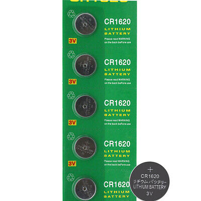 5x 3V CR1620 Cell Coin Button Battery ECR1620 DL1620 1620 Watch Remote Toys