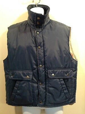 Vintage Windcrest Men's Puffer Vest size Large Navy Blue