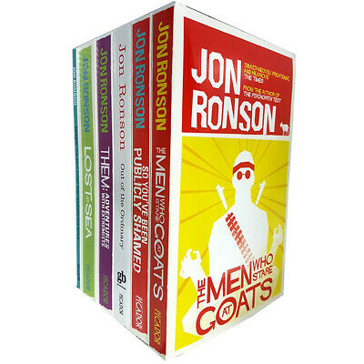 Jon Ronson Collection 6 Books Bundle Set So You've Been Publicly Sham NEW