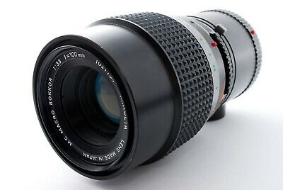 Minolta MC Macro Rokkor 100mm F/3.5 Prime Lens For Minolta MD from japan 424501