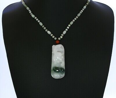 "2.3""China Certify Grade A Nature Hisui Jadeite Jade Fortun  Fish & Ruyi Pendants"