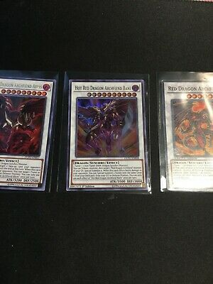 Hot Red Dragon Archfiend Abyss + Bane + Red Dragon  Ultra Rare DUPO Yu-Gi-Oh!