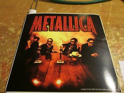 Metallica Sticker Collectible Rare Vintage 2000 Metal Live Window Decal