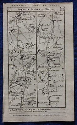 Original antique road map BERKSHIRE, HAMPSHIRE, ALTON, WINCHESTER, Paterson 1785
