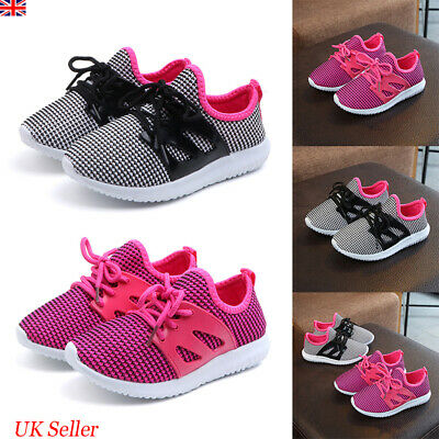 Kids Girls Boys Mesh Trainers Sneakers Children Sports Running School Shoes Size