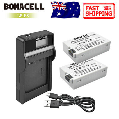 2X Battery Or LCD Dual charger For Canon LP-E8 EOS Kiss X4 550D 600D 700D 650D