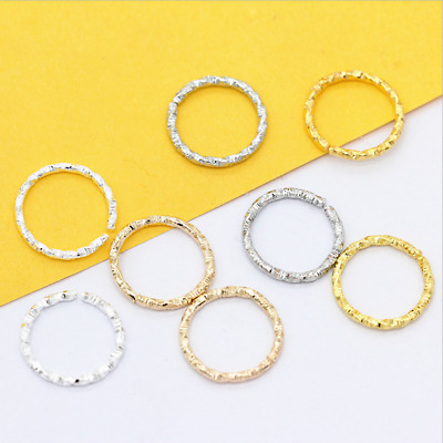 100X 8/15mm Jump Ring Twisted Open Fancy Rope Connectors Jewlery Making