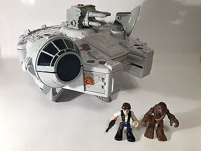 Star Wars Galactic Heroes Millennium Falcon Playset Chewbacca Han Solo Figures