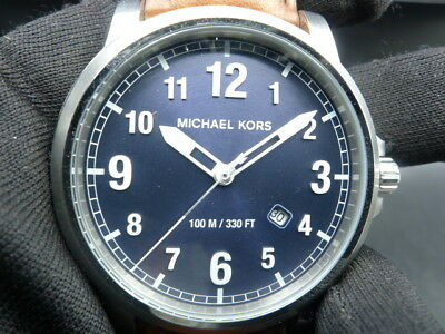 89d835d1c1c8 New Old Stock - MICHAEL KORS PAXTON MK8501 - Navy Dial Brown Leather Men  Watch