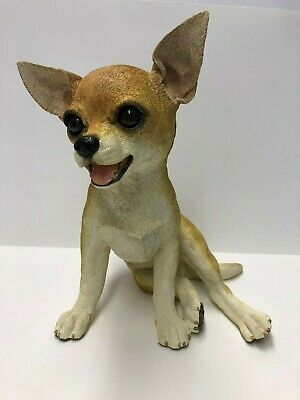 """Retired """"All Sculptures"""" scandcast fawn and white Chihuahua"""