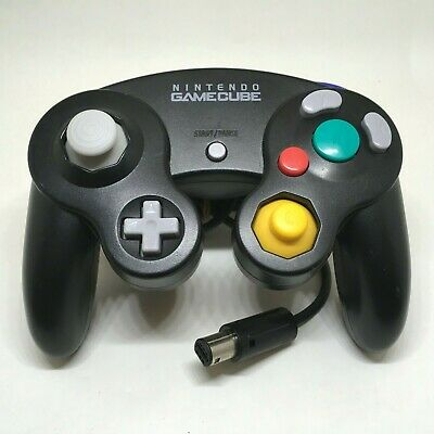 Nintendo Black Jet GameCube Controller Pad GC Wii Game Cube Tested 040906RC